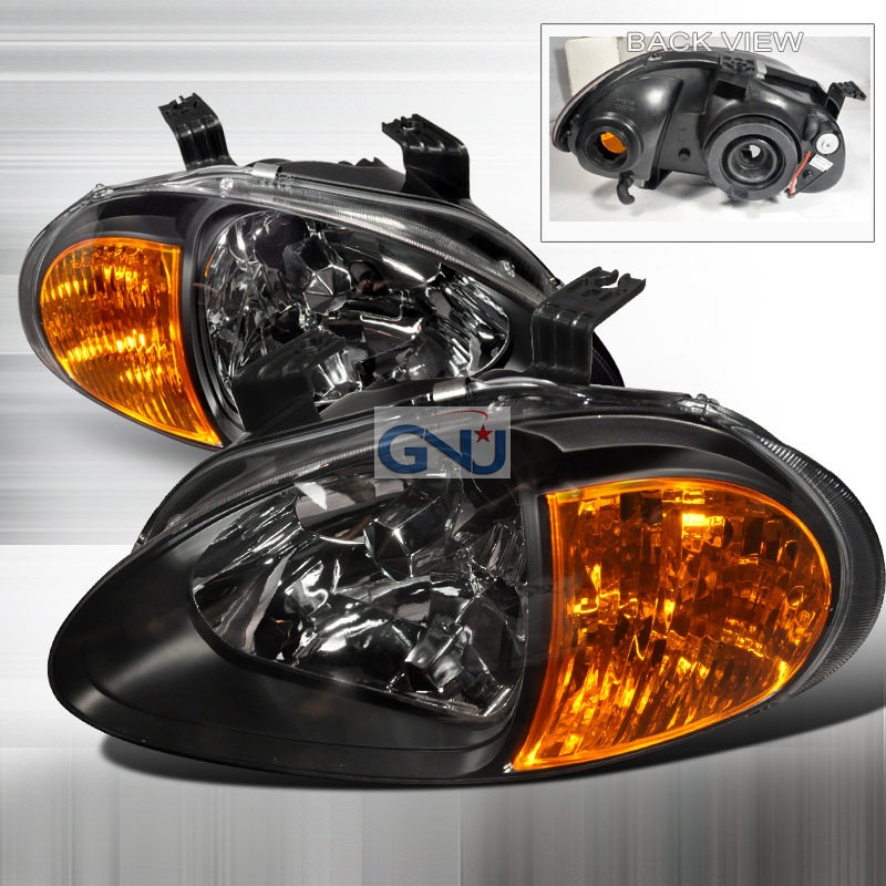 Honda Delsol 1993-1997 Black Euro Headlights