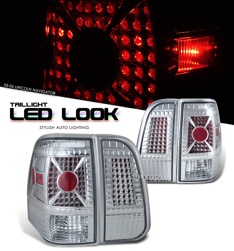 Lincoln Navigator 2003-2006  Chrome Euro Tail Lights