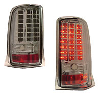 Cadillac Escalade 02-04 LED Tail Lights Chrome/Smoked Lens
