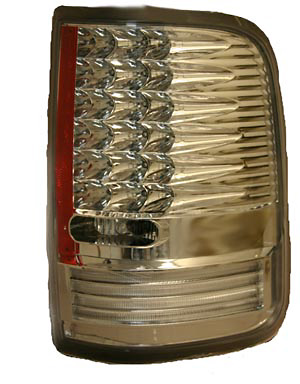 Ford F150 2004-2008 Chrome Housing Clear Lens LED Tail Lights