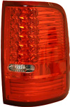 2007 Ford F150  Red Housing Clear Lens LED Tail Lights