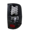 Ford F-150 2004-2008 Black Housing Clear Lens LED Tail Lights