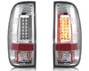 2000 Ford F150 Fleetside  LED Tail Lights Chrome with Clear Lens