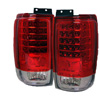1997 Ford Expedition  LED Tail Lights Red