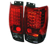 Ford Expedition 1997-2002 LED Tail Lights Red Smoke