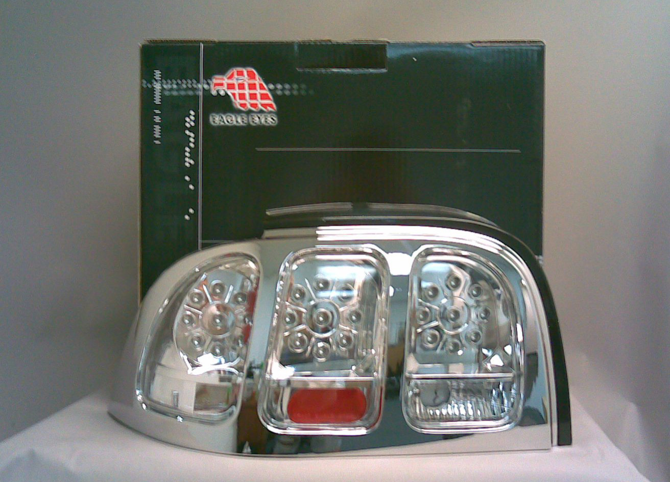 Ford Mustang 94-98 Chrome Clear LED Tail Lights