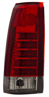 Chevrolet CK, Tahoe, Suburban 88-98 LED Tail Lights Red/Chrome