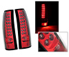 2002 Cadillac Escalade  LED Tail Lights Red/Chrome