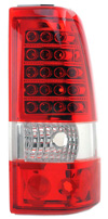 2002 Chevrolet Silverado  LED Tail Lights Red/Chrome