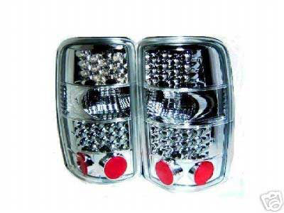 Chevrolet Tahoe / Suburban 2000-2004 Chrome LED Tail Lights