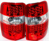 2002 Chevrolet Surburban  LED Tail Lights Red/Chrome