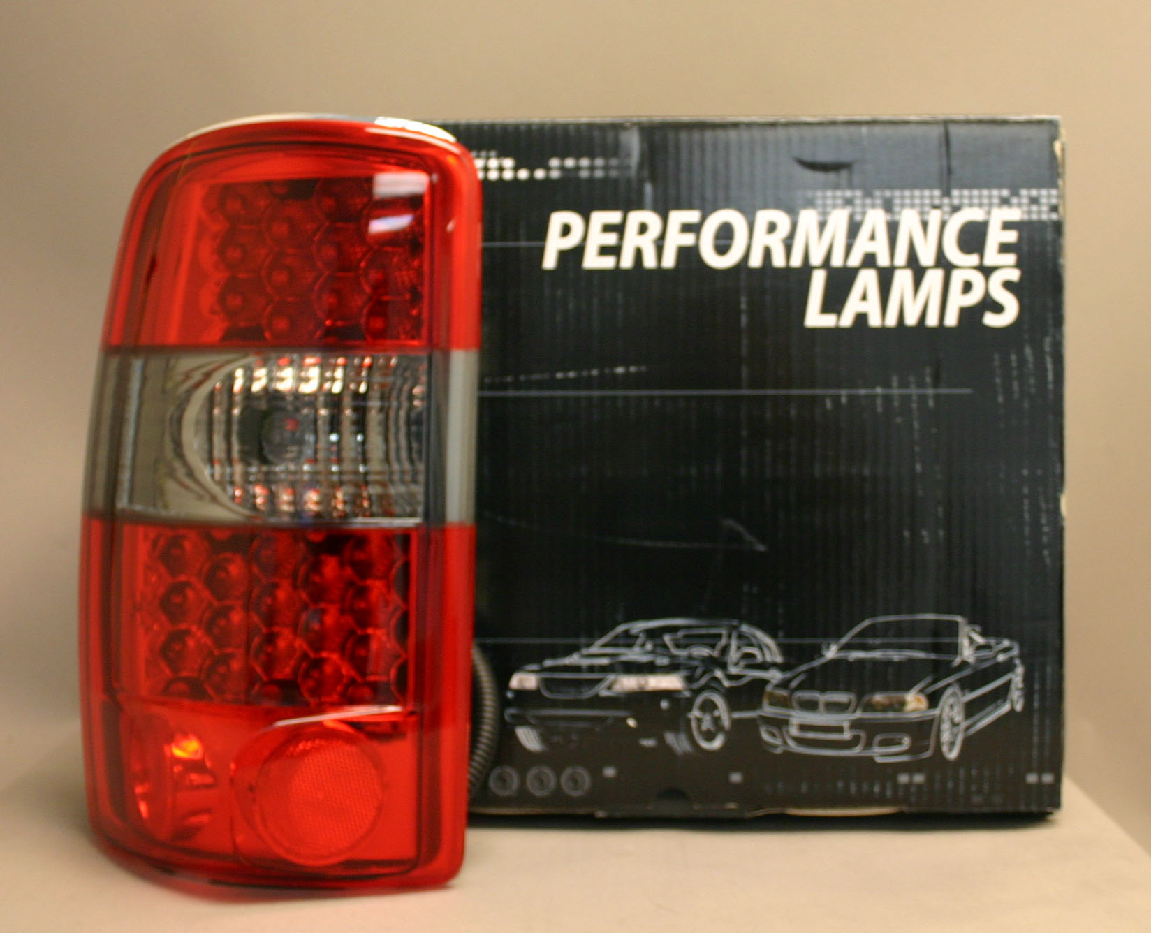 Chevy Suburban 2001-2006 LED Tail Lights - Red / Smoke