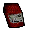 2006 Dodge Magnum  Red w/ Smoked Lens LED Tail Lights