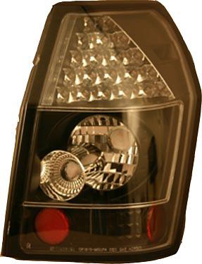 Dodge Magnum 05-06 Black Housing Clear Lens LED Tail Lights