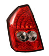 Chrysler 300 2005-2007 Chrome Housing, Red Lens LED Tail Lights