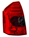 Chrysler 300 2005-2007 Red Housing, Smoked Lens LED Tail Lights