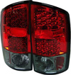 Dodge Ram 2002-2005 Red Smoked Lens LED Tail Lights