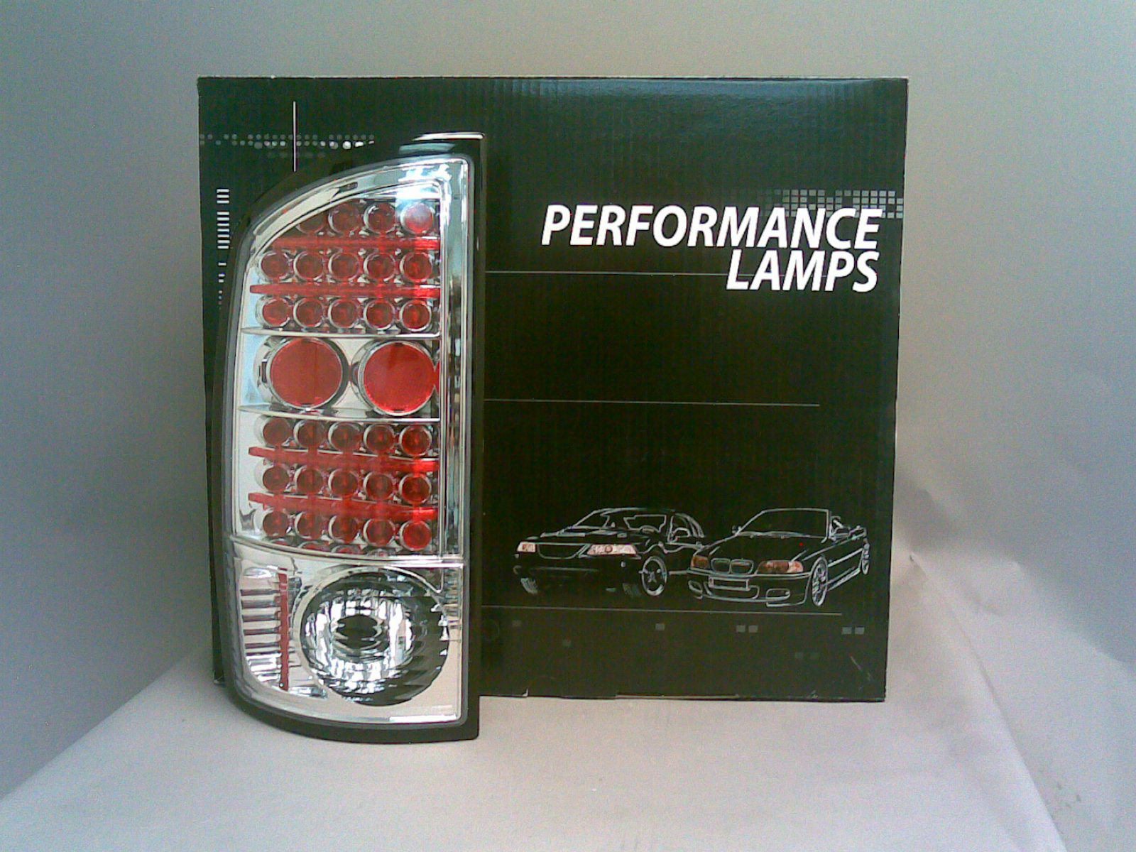 Dodge Ram 2002-2006 Chrome Red LED Tail Lights