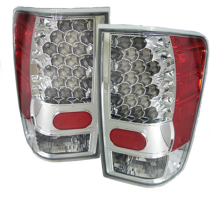 Nissan Titan 2004-2006 Chrome LED Tail Lights