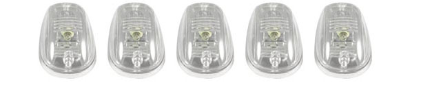 Dodge Ram 2500/3500 2003-2008 Chrome LED Euro-Clear Cab Lights