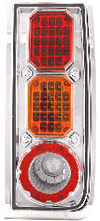 2006 Hummer H2  Chrome LED Tail Lights with Amber Turn Signals