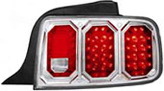 Ford Mustang 05-06 Chrome LED Tail Lights