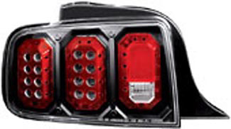 Ford Mustang 05-06 Black LED Tail Lights