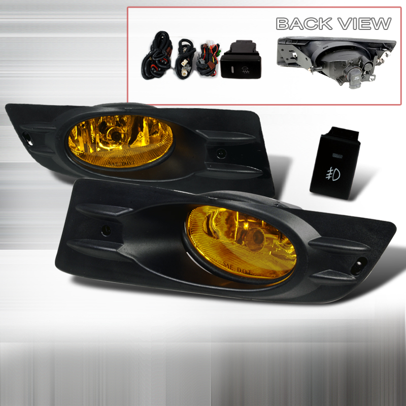 Honda Accord 2dr 2006-2007 Yellow OEM Fog Lights