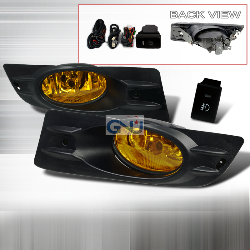 Honda Accord 2006-20112DR Fog Lights Amber