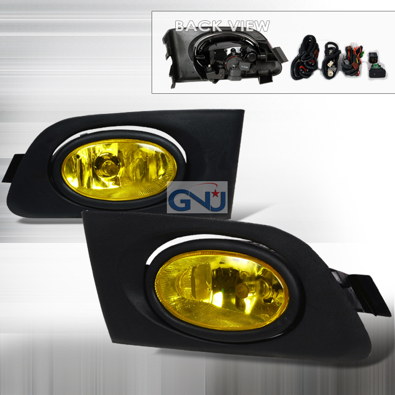 Honda Civic  2001-2003 Yellow OEM Fog Lights