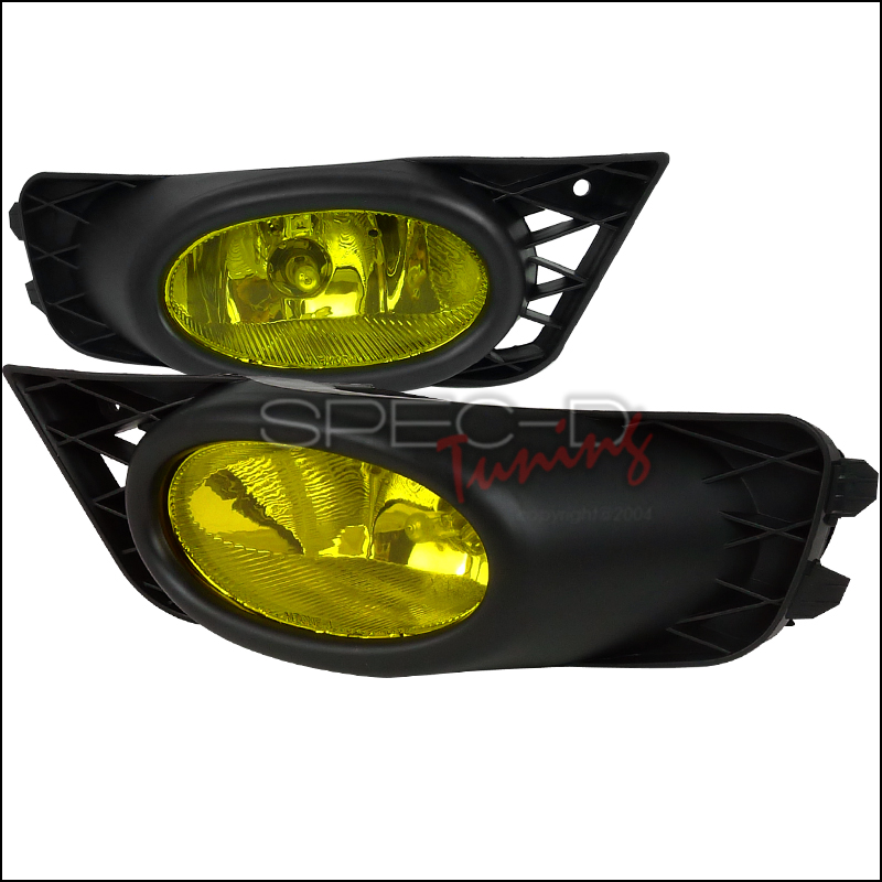 Honda Civic 4dr 2009-2012 Yellow OEM Fog Lights