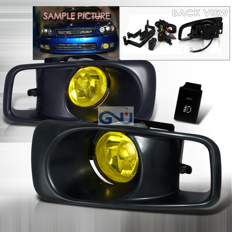 Honda Civic  1999-2000 Yellow OEM Fog Lights