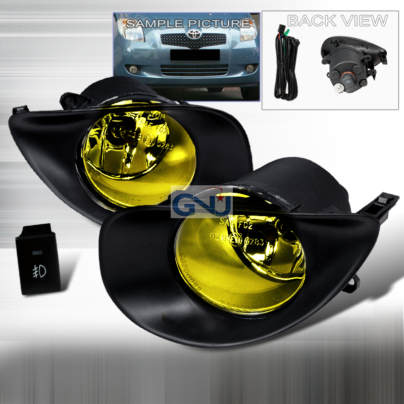 Toyota Yaris 3dr 2006-2009 Yellow OEM Fog Lights