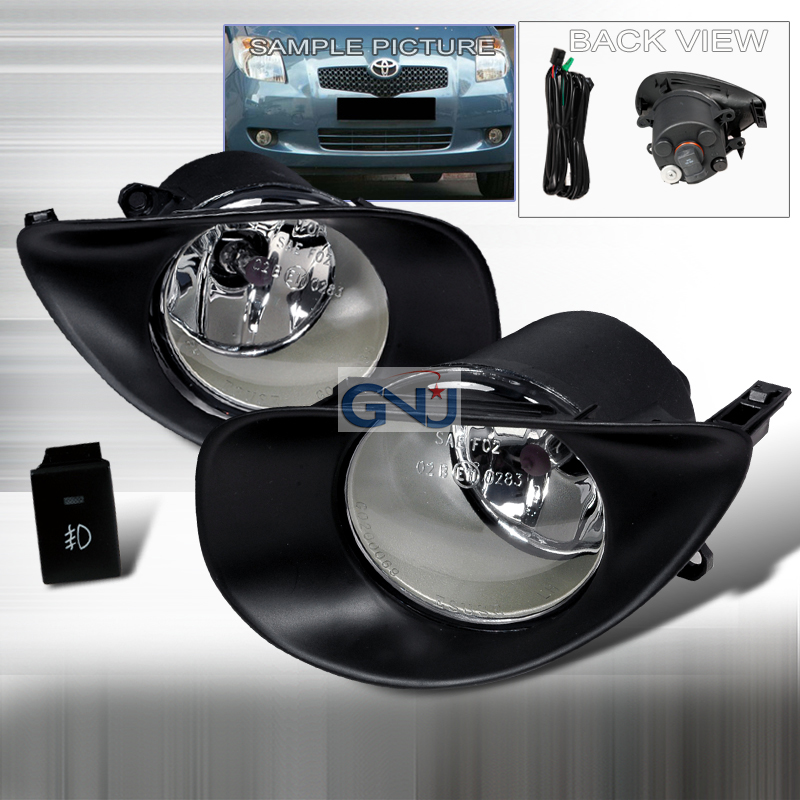Toyota Yaris 3dr 2006-2009 Clear OEM Fog Lights