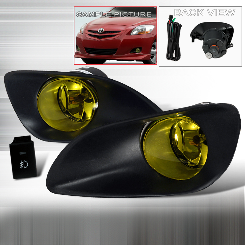 Toyota Yaris 4dr 2006-2009 Yellow OEM Fog Lights
