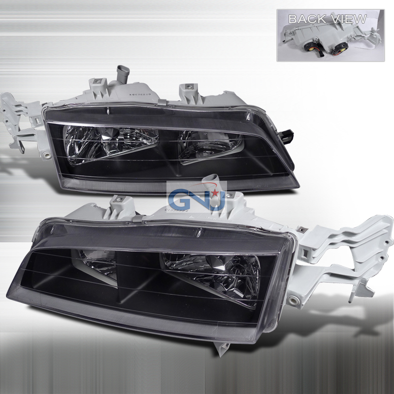 Honda Accord 1994-1997 Black Euro Headlights