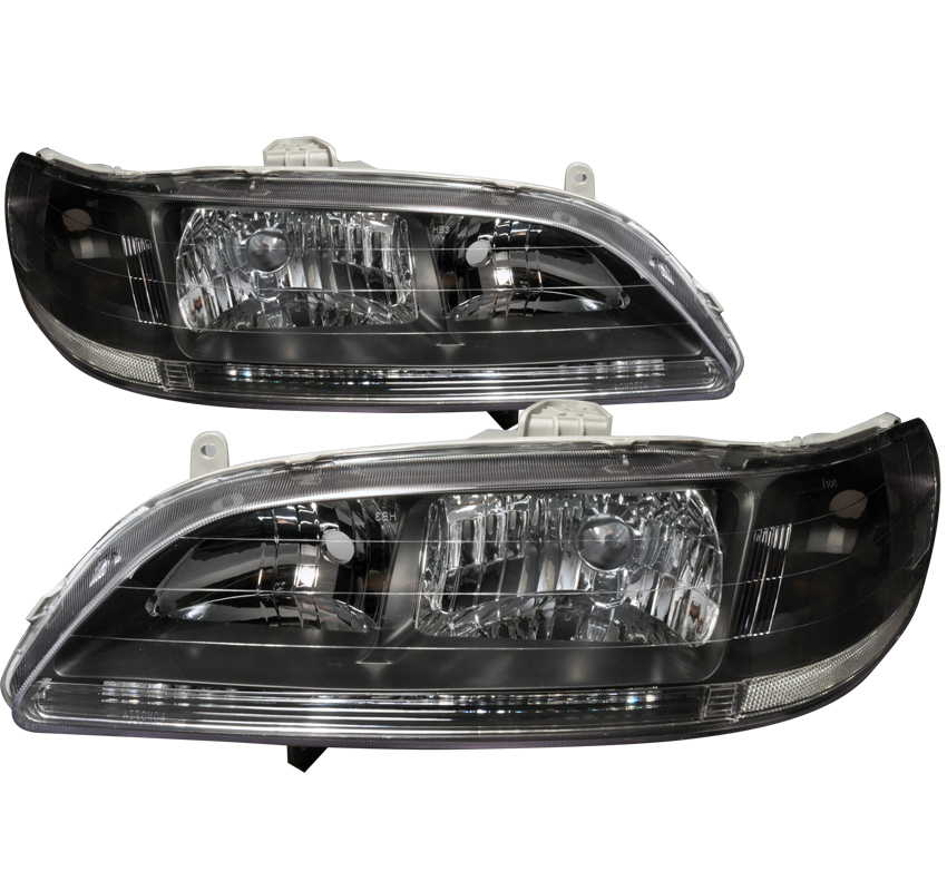 Honda Accord 1998-2002 Black Euro Headlights