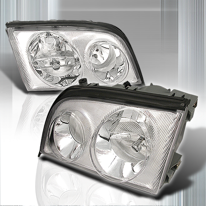 Mercedes Benz S Class 1992-1998 Chrome Euro Headlights