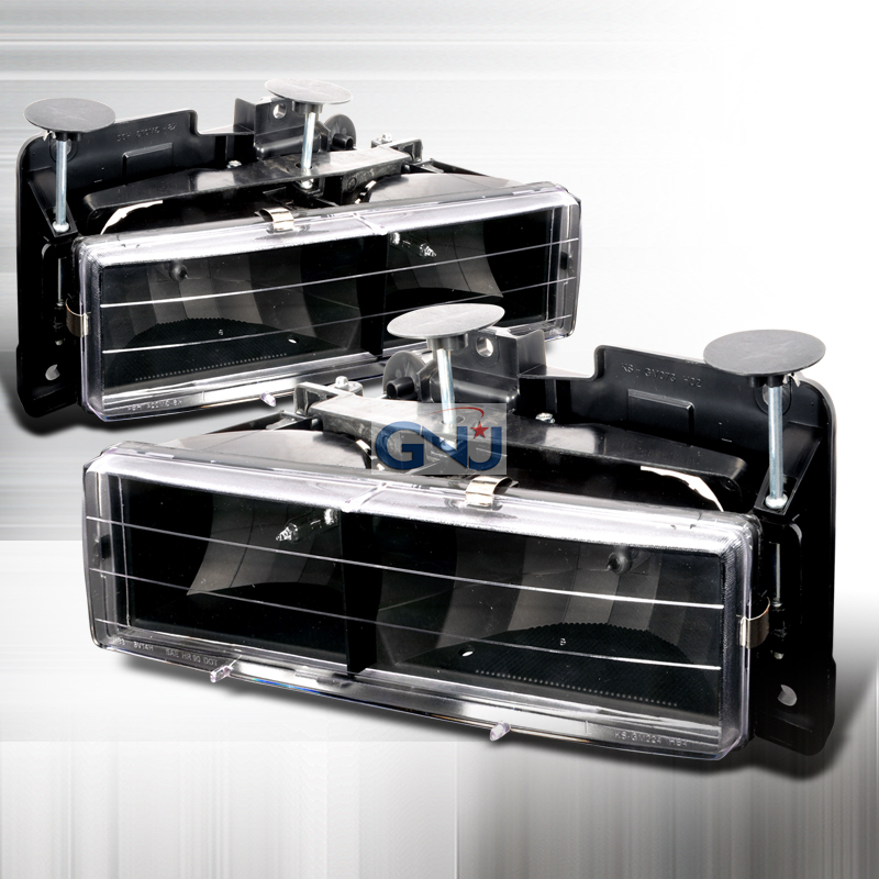 Chevrolet Full Size Pickup 1988-1998 Black Euro Headlights