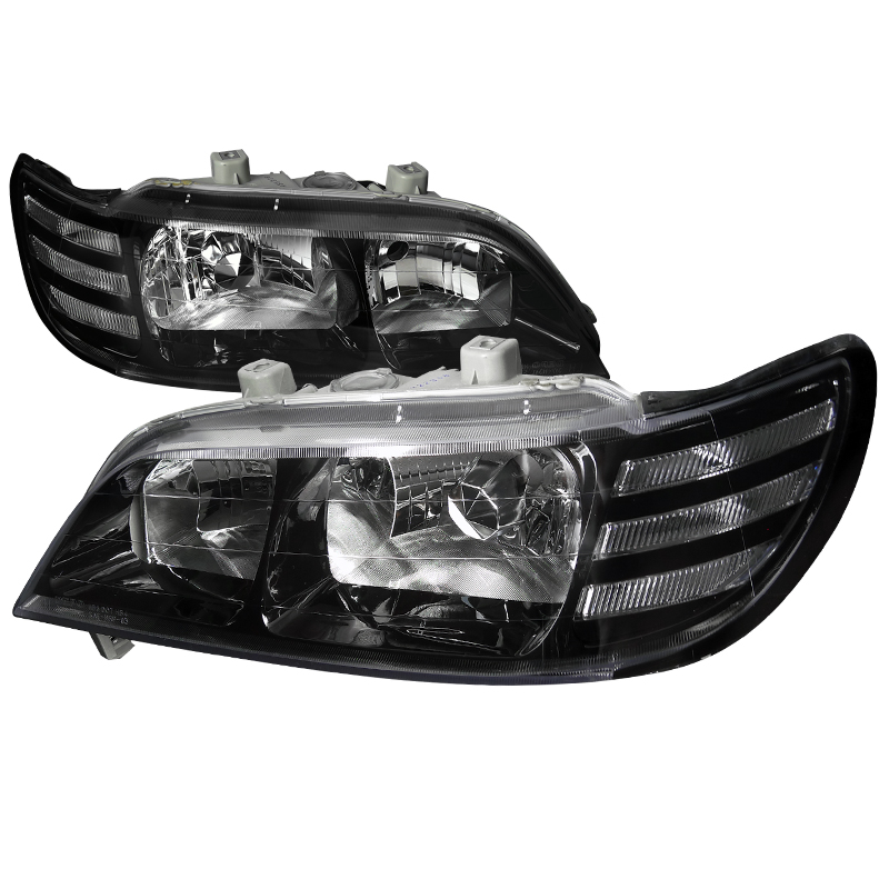 Acura Acura Cl Black Euro Headlights By SpecD LHCLJMDP - Acura tl aftermarket headlights
