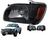 Toyota Tacoma 2001-2004 Black Healights W/ Corner Lights