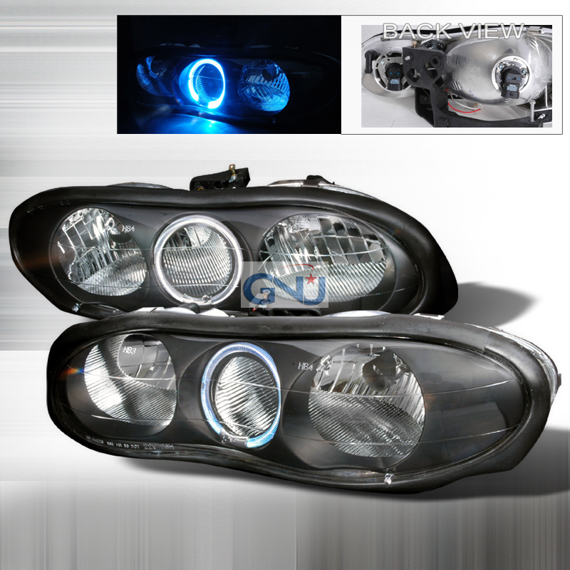 Chevrolet Camaro 1998-2001 Black Euro Headlights