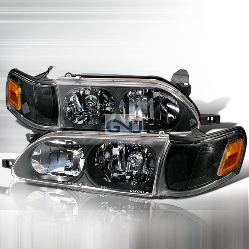 Toyota Corolla 1993-1997 Black Euro Headlights