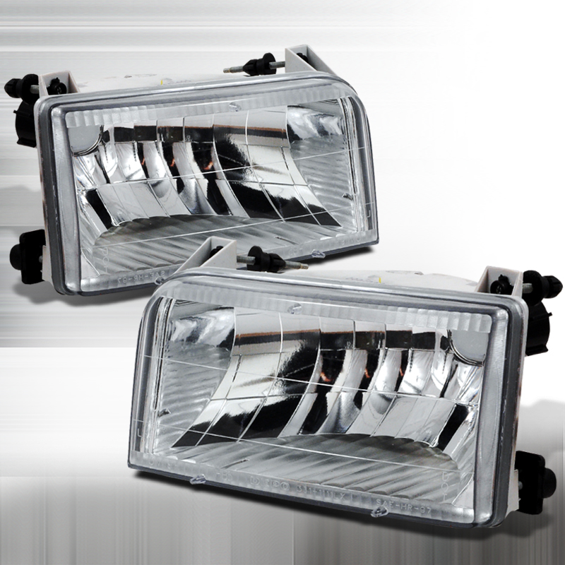Ford Super Duty 1992-1996 Chrome Euro Headlights