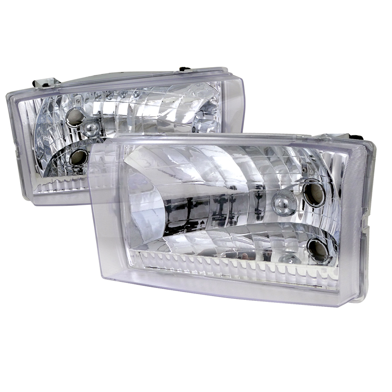 Ford Super Duty 1999-2004 Chrome Euro Headlights