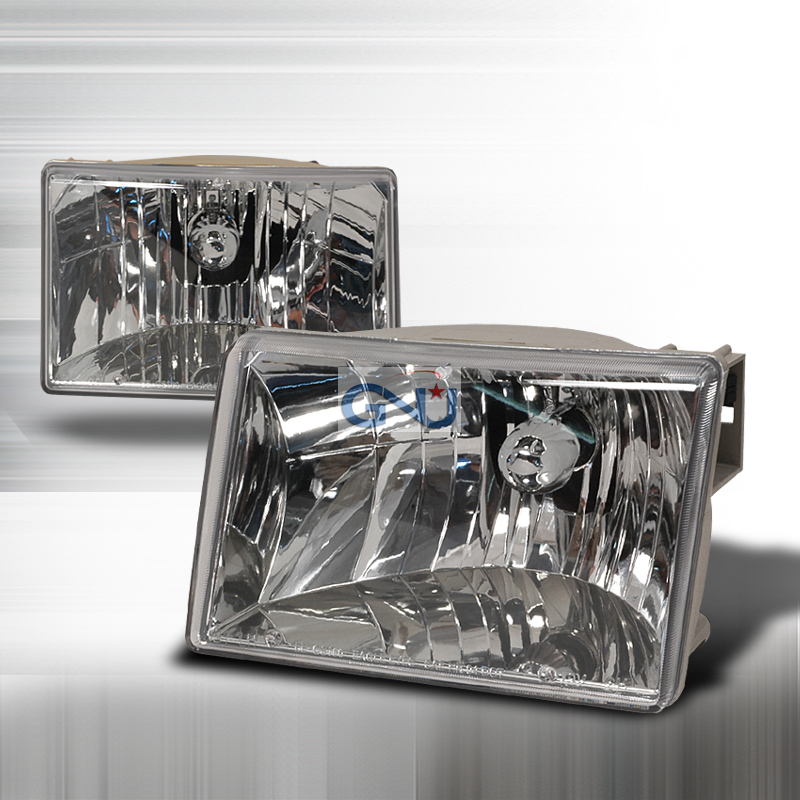 Jeep Grand Cherokee 1993-1998 Chrome Euro Headlights