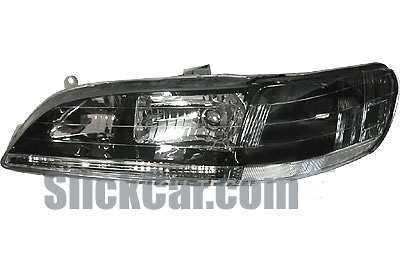 Honda Accord 98-02 JDM Style Black/Clear Headlights