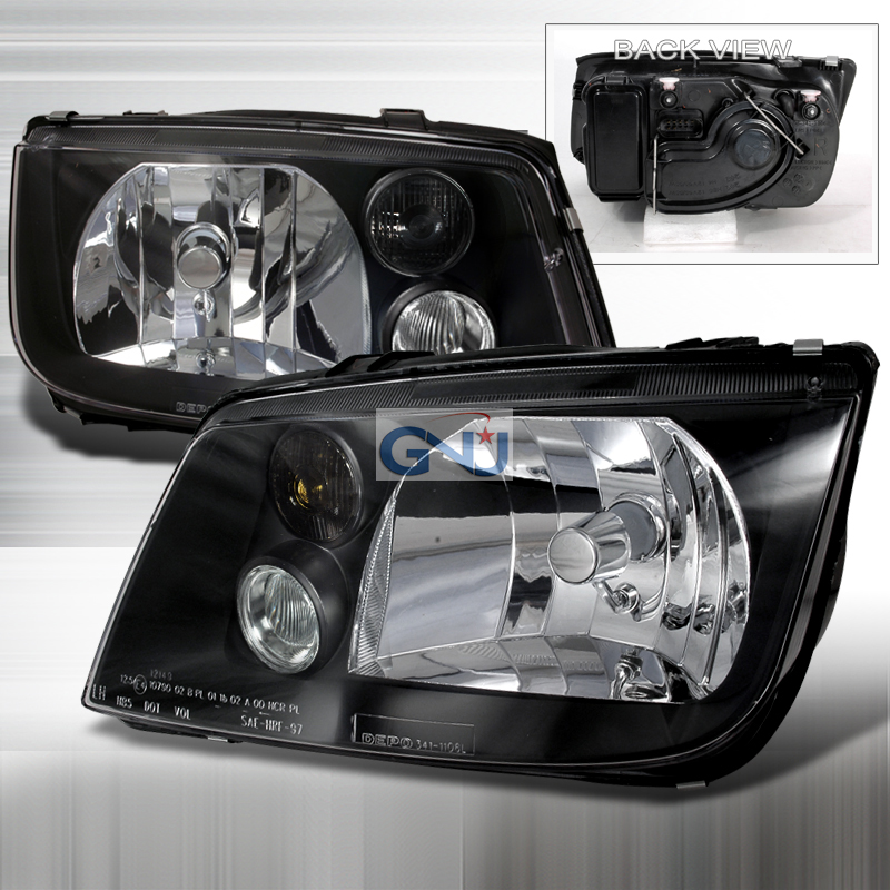 Volkswagen Jetta 1999-2004 Black Euro Headlights