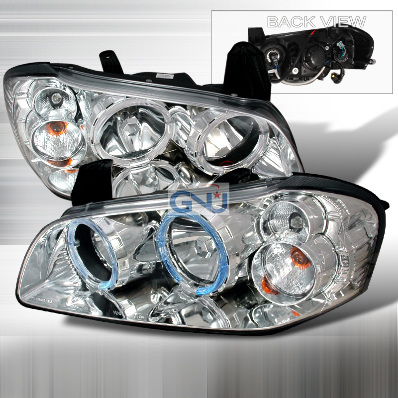 Nissan Maxima 2000-2003 Euro Crystal Headlights   - Chrome