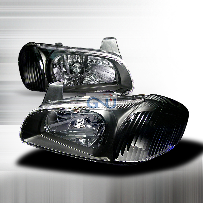 Nissan Maxima 2000-2003 Black Euro Headlights